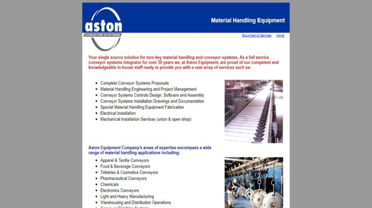 Aston Equipment Company, Inc.