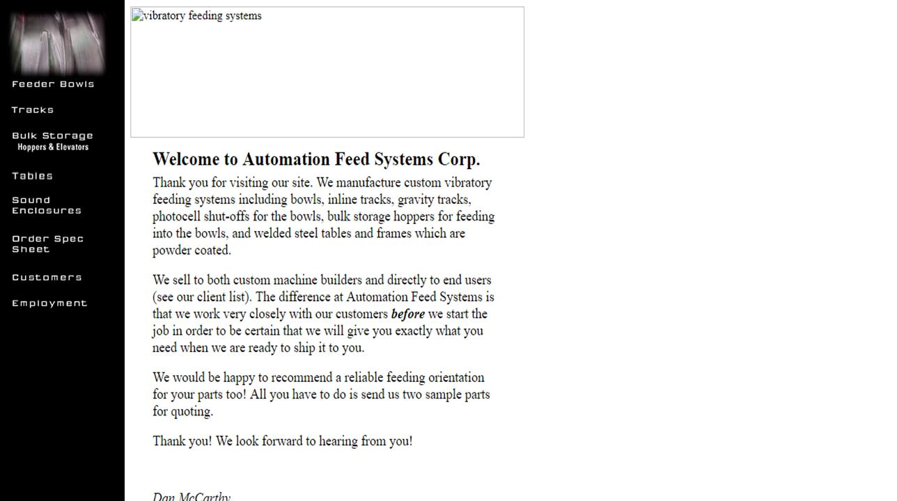 Automation Feed Systems Corp.