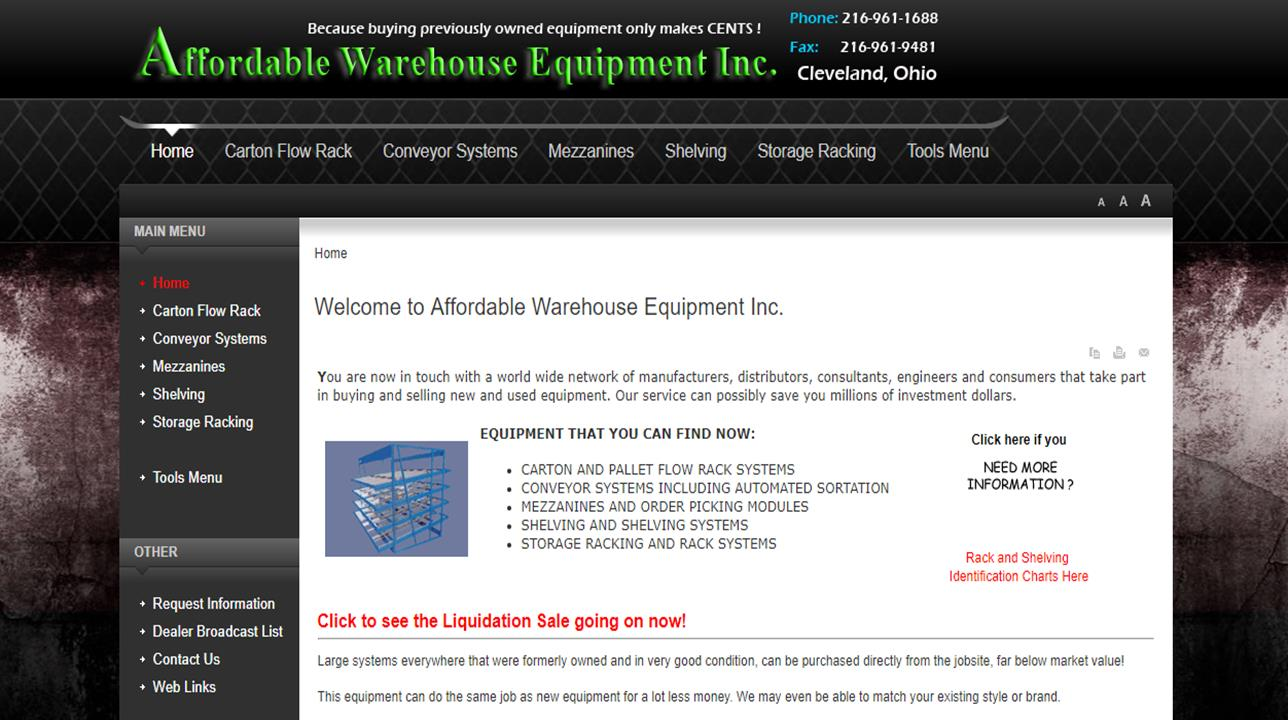 Affordable Warehouse Equipment, Inc.