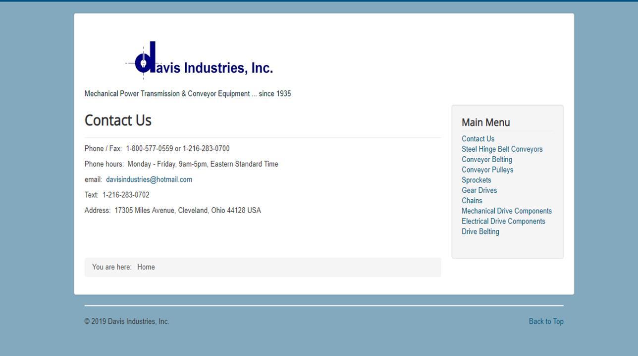 Davis Industries, Inc.