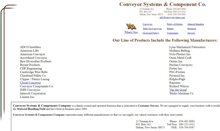 Conveyor Systems & Components Company
