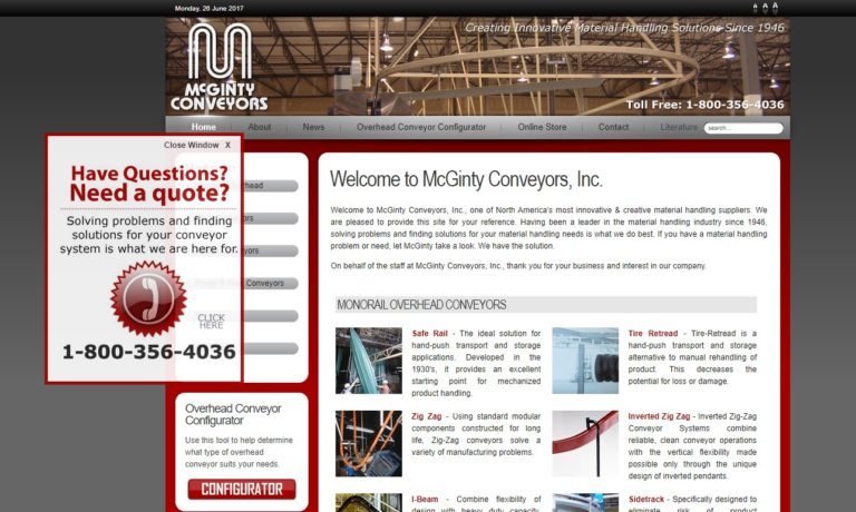 McGinty Conveyors, Inc.
